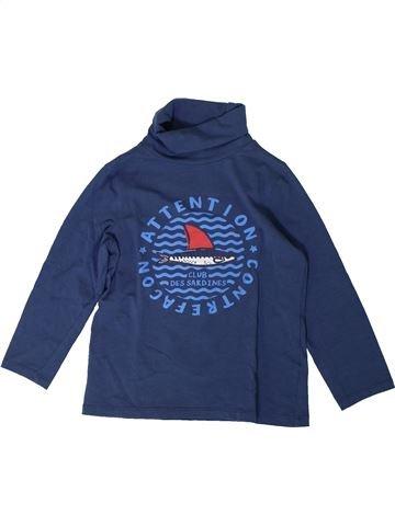 T-shirt col roulé garçon DPAM bleu 6 ans hiver #1401696_1