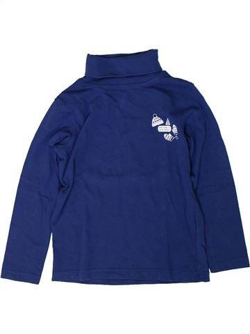 T-shirt col roulé garçon VERTBAUDET bleu 6 ans hiver #1401698_1
