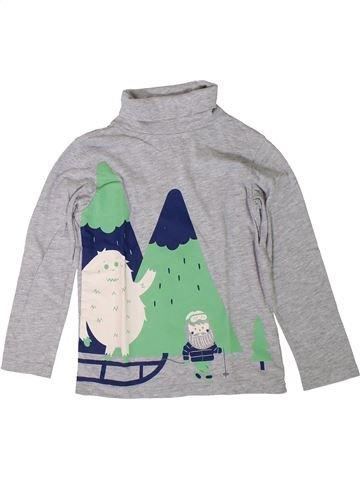 T-shirt col roulé garçon VERTBAUDET gris 6 ans hiver #1401705_1