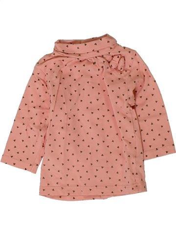Camiseta de cuello alto niña KIABI rosa 3 meses invierno #1401723_1