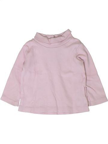 T-shirt col roulé fille C&A rose 12 mois hiver #1401728_1