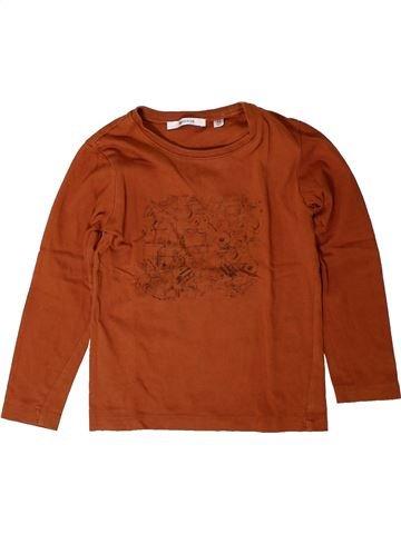T-shirt manches longues garçon MARÈSE marron 4 ans hiver #1401770_1