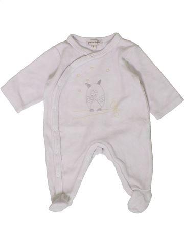 Pyjama 1 pièce unisexe GRAIN DE BLÉ blanc naissance hiver #1401779_1