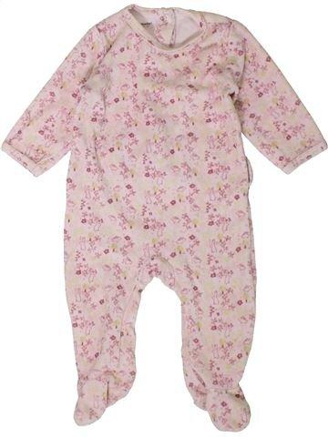 Pijama de 1 pieza niña VERTBAUDET rosa 6 meses invierno #1401802_1