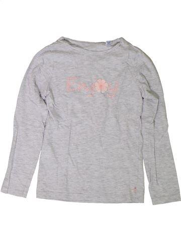 Camiseta de manga larga niña OKAIDI gris 8 años invierno #1401821_1