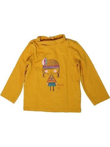 T-shirt col roulé fille ORCHESTRA orange 2 ans hiver #1401889_1