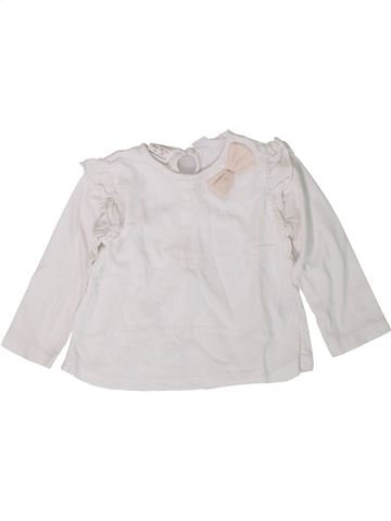 T-shirt manches longues fille ZARA blanc 2 ans hiver #1401897_1