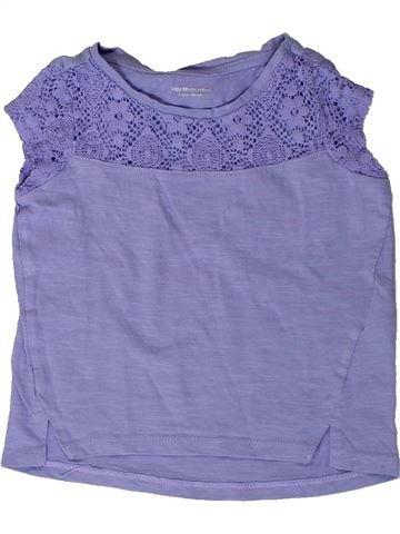 Camiseta de manga corta niña VERTBAUDET azul 2 años verano #1401901_1
