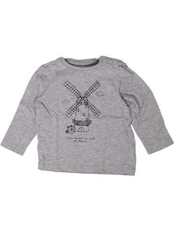 T-shirt manches longues garçon BOUT'CHOU gris 18 mois hiver #1402042_1
