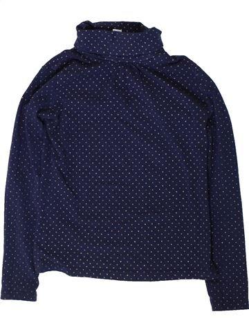 T-shirt col roulé fille OKAIDI bleu 8 ans hiver #1402064_1