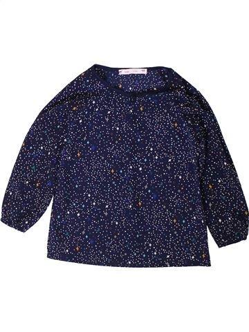 Blusa de manga larga niña GEMO azul 4 años invierno #1402088_1