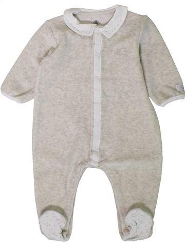 Pijama de 1 pieza niño PETIT BATEAU blanco 6 meses invierno #1402092_1