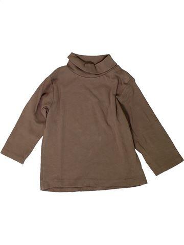 Camiseta de cuello alto niño KIABI marrón 18 meses invierno #1402096_1