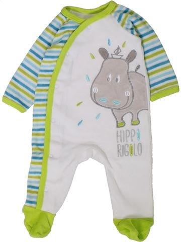 Pijama de 1 pieza niño GEMO blanco 3 meses invierno #1402102_1