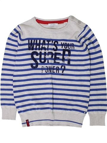 jersey niño OKAIDI blanco 6 años invierno #1402107_1
