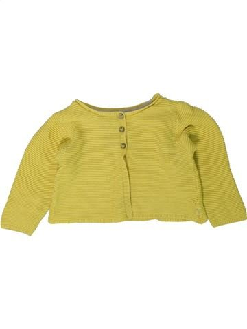 Chaleco niña OKAIDI amarillo 18 meses invierno #1402123_1