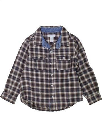 Camisa de manga larga niño OKAIDI gris 3 años invierno #1402131_1