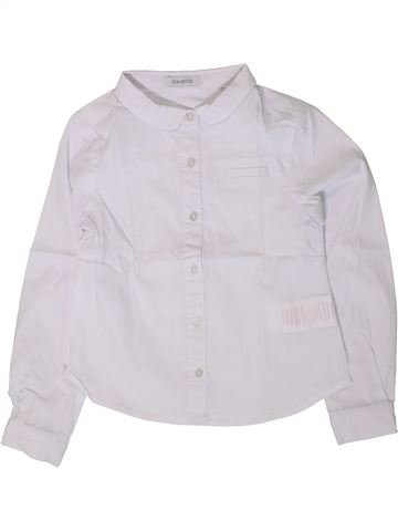 Blouse manches longues fille OKAIDI blanc 5 ans hiver #1402157_1