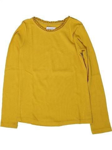 T-shirt manches longues fille OKAIDI jaune 6 ans hiver #1402161_1