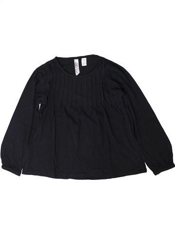 T-shirt manches longues fille OKAIDI noir 6 ans hiver #1402171_1