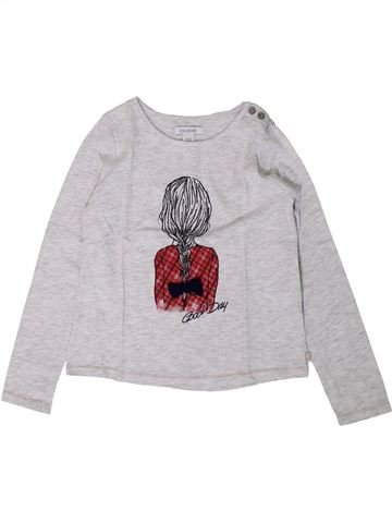 T-shirt manches longues fille OKAIDI blanc 6 ans hiver #1402172_1