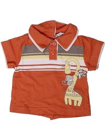 Polo manches courtes garçon KIMBALOO orange 1 mois été #1402201_1