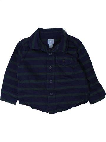 Chemise manches longues garçon GAP noir 18 mois hiver #1402239_1