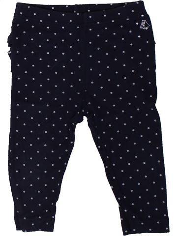Legging niña PETIT BATEAU negro 12 meses invierno #1402282_1