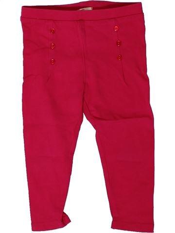 Legging fille DPAM rouge 18 mois hiver #1402295_1