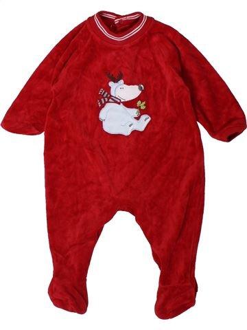 Pyjama 1 pièce garçon MARKS & SPENCER rouge 3 mois hiver #1402387_1