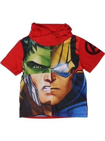T-shirt manches courtes garçon MARVEL orange 5 ans été #1402459_1