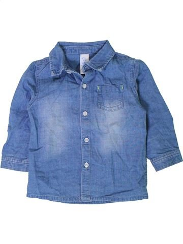 Camisa de manga larga niño C&A azul 18 meses invierno #1402548_1