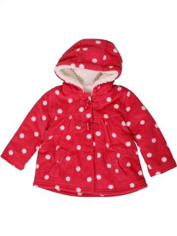 Manteau fille GEORGE rouge 12 mois hiver #1402694_1