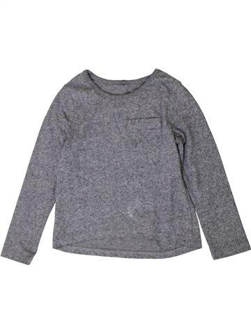 T-shirt manches longues unisexe GEORGE gris 5 ans hiver #1402830_1