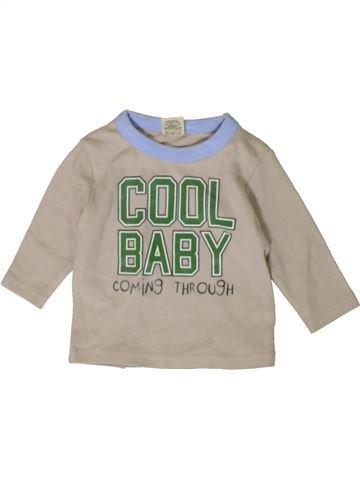 T-shirt manches longues garçon TINY TED gris 3 mois hiver #1402889_1