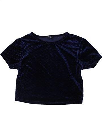 T-shirt manches courtes fille NEW LOOK noir 9 ans été #1403022_1
