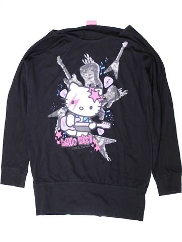 T-shirt manches longues fille HELLO KITTY noir 14 ans hiver #1403044_1