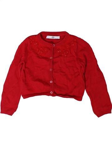Gilet fille MARKS & SPENCER rouge 3 ans hiver #1403142_1