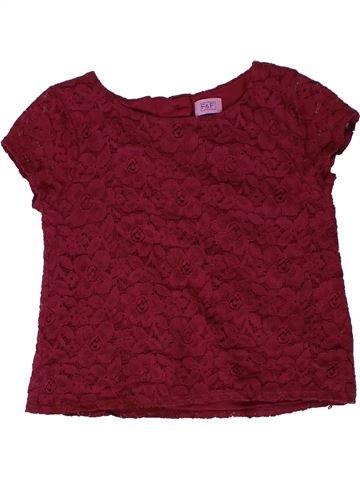 T-shirt manches courtes fille F&F rouge 5 ans été #1403258_1