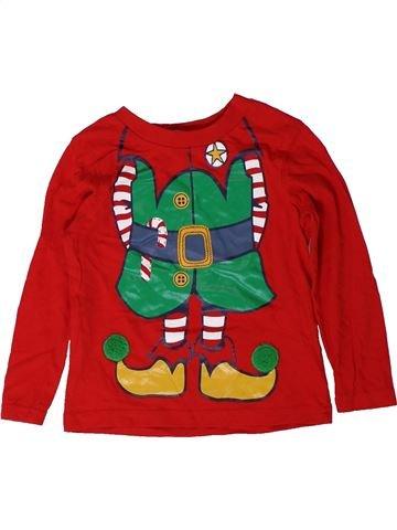T-shirt manches longues garçon GEORGE rouge 2 ans hiver #1403283_1