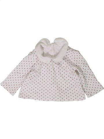 T-shirt manches longues fille GEORGE blanc 3 mois hiver #1403302_1