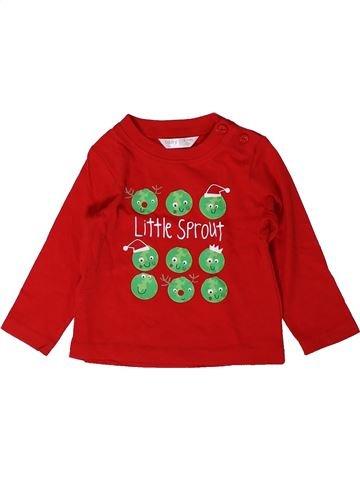 T-shirt manches longues garçon M&CO rouge 9 mois hiver #1403372_1