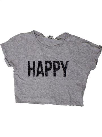 Camiseta de manga corta niña NEW LOOK gris 11 años verano #1403468_1