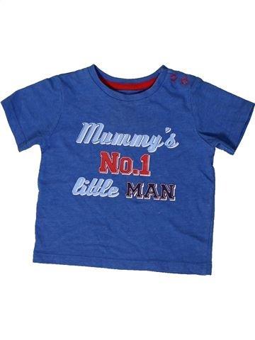 T-shirt manches courtes garçon TU bleu 6 mois été #1403531_1