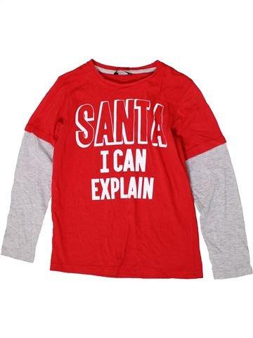 T-shirt manches longues garçon GEORGE rouge 10 ans hiver #1403815_1
