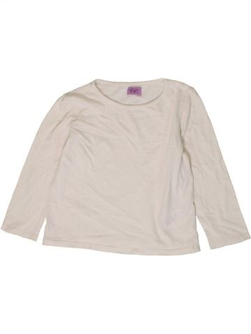 T-shirt manches longues fille F&F blanc 4 ans hiver #1403891_1