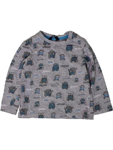 T-shirt manches longues garçon GEORGE gris 2 ans hiver #1403979_1