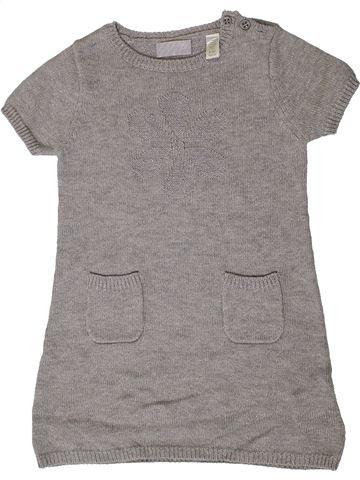 Robe fille OKAIDI gris 4 ans hiver #1403982_1