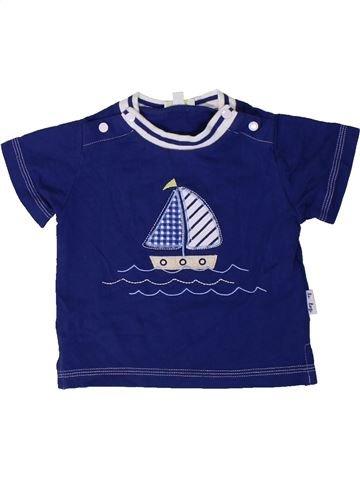 Camiseta de manga corta niño LE TOP BEBE azul 3 meses verano #1404011_1