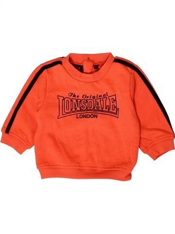 Sweat garçon LONSDALE orange 12 mois hiver #1404037_1